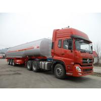 China 45000 Liters 3 Axle Fuel Delivery Tank Truck , Oil Tanker Truck Carbon Steel on sale