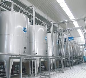 CE UHT Milk Processing Line High Temperature Sterilization With Pouch / Bottle Manufactures