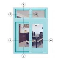 China Horizontal Interior Aluminium Sliding Windows Soundproof With Forested Glass on sale