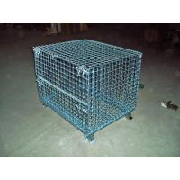 Transport Welded Steel Wire Mesh Pallet Cage With Cover Lid Protection Manufactures