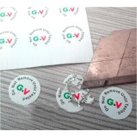 High Brittle White Security Labels Stickers Strong Adhesive Difficult Remove For Screw Manufactures