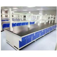 Wooden / Stainless Steel Lab Tables Work Benches Traditional Design With Roomy Storage Manufactures