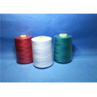 Plastic Cone Dyed Polyester Industrial Sewing Thread For Textile / Garment Manufactures