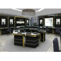 Jewelry Showcase Manufacturers - Custom Made Mirror Black Glass Jewelry Showcase Manufactures