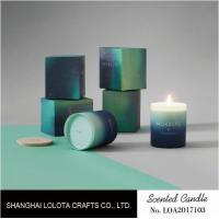 Gradient Color Soy Wax Handmade Jar Candles Aurora Sky Green Bottle Non Toxic Manufactures