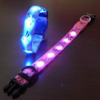 New Green LED Flashing Pet Collars With Cute Pattern Manufactures
