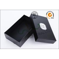 Black Luxurious Leather Belt Corrugated Packaging Boxes Custom Logo Printed Manufactures