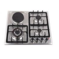 Kitchen Gas And Electric Hob , Gas Induction Hob Surface Brushed Treatment Manufactures