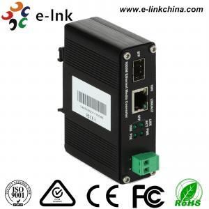 Quality 12-48V DC Input 10/100/1000Mbps Mini Gigabit Industrial PoE Media Converter 30W for sale