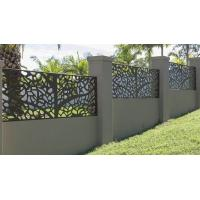Powder coating steel cut partition or aluminum screen panel for metal screen fence or facade Manufactures