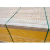 Quality Yellow Fiberglass Grating 38*38*38 High Strength Fire Resistance for sale