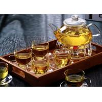 Microwavable Clear Glass Teapot With Infuser 1000ml For Flower Green Tea Manufactures