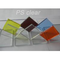 Indoor Clear Polystryrene Plastic Sign Board Heat / Electronically Resistant Manufactures