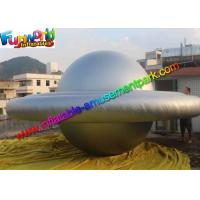 Custom Grey Inflatable Helium Saucer Balloon / Adertising  UFO With LED Lighting Decoration for sale