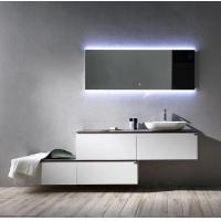 Quality Modern Style Plywood Bathroom Vanity Cabinets With Tops Lighted Makeup Mirror for sale