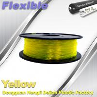 High Elasticity Yellow Flexible 3D Printer Filament 1.75 / 3.0 mm Manufactures