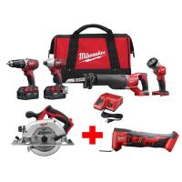 Milwaukee M18 18-Volt Lithium-Ion Cordless Combo Tool Kit (4-Tool) with Free M18 6-1/2 in. Circular Saw & Oscillating M Manufactures