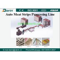 China Darin Meat Strip Cutting Machine , Meat Strips Dog Treats Pet Food Processing Line on sale
