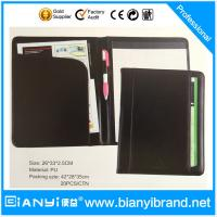Hardcover leather portfolio with writting pad Manufactures