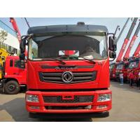 China HOT SALE! Dongfeng T5 4*2 LHD 180hp diesel 8tons telescopic crane boom mounted on truck for sale, cargo truck with crane on sale