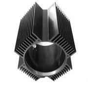 Hollow Aluminum Extrusion Extruded Aluminum Heatsink 6000 Series T5 T6 Manufactures