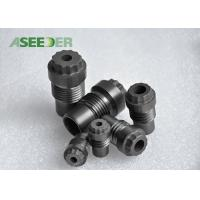 Buy cheap OEM Tungsten Carbide Spray Nozzle / Black Cemented Carbide Wear Parts from wholesalers