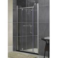 Silver Sliding Glass Swing Shower Doors Self - Cleaning With Two Fixed 8 / 10 MM Glass Manufactures