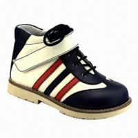 China Casual Shoes with Action Leather Upper, Split Pigskin Lining and TPR Outsole, Measures 19 to 35# on sale