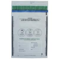 Transperant And Opaque Co - Extrusion Security Tamper Evident Deposit Bag For for sale