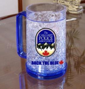 plastic beer mug PS material beer mug custom LOGO ICE BEER MUG Manufactures