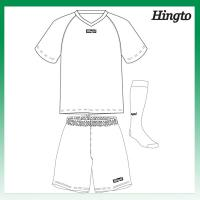 Buy cheap Customized Wicking Mesh Cool Soccer Jerseys / Polyester 150gsm Sports Uniforms from wholesalers