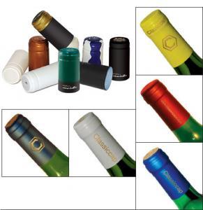 Moisture Proof PVC Wine Bottle Caps UV Protection Plain / Printed Surface Manufactures