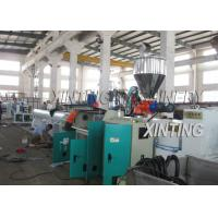 China Plastic PE Pipe Production Line High Output Speed Adjustable Lower Energy Consumption on sale