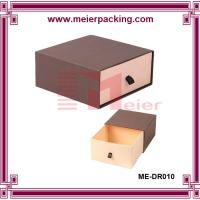 Custom slide drawer paper box/Brown Paper Drawer Box Jewelry Gift Box ME-DR010 Manufactures