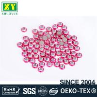 Round Shape Rimmed Rhinestones Glass / Alloy Material 12 - 14 Facets Manufactures