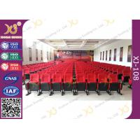 Movable Folded Church Furniture Chairs Electrostatic Spraying Feet Floor Mounted Manufactures