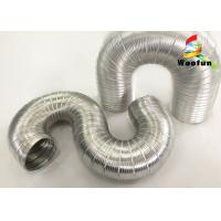 Heat Resistant Fireproof Semi Rigid Ventilation Aluminum Flexible Duct Pipe Manufactures