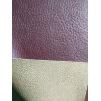 Red Brown Faux Leather Fabric For Clothing , Faux Leather Material Manufactures
