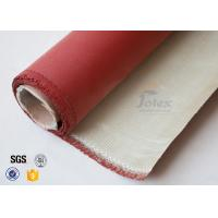0.8mm 700gsm Red Silicone Coated High Silica Fabric Cloth For Fire Blanket Manufactures