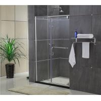Sliding Screen Pivot Shower Doors Self - Cleaning Glass With F Shape Handle Manufactures