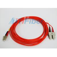 China 62.5 / 125 mm Duplex Fiber Patch Cords  Multimode  LC / UPC to SC / UPC on sale