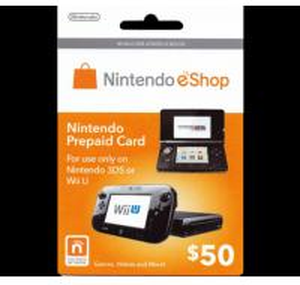 wholesale $50 Nintendo 3DS Wii U Prepaid Points Card eShop Manufactures