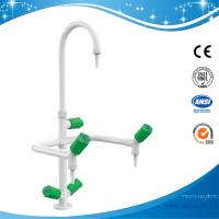 SHA1-2-Three Way/Triple outlet Lab Tap/Faucet,brass,360°swing,White/lever handle optional Manufactures