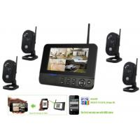 CCTV 4ch 720p Wireless Security Camera System With DVR Full HD 3G Sim Card Manufactures