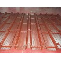 Galvanized Steel Barrel Type Roof Sheet Making Machine High Frequency PLC Control Manufactures
