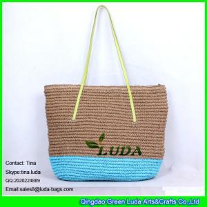 China LUDA Extra Large Blue Beach Bag Fashion Crochet Paper Crochet Straw Bags on sale