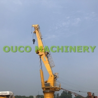 C5M Level Painting 1.5T 36.6M Telescopic Marine Crane Manufactures