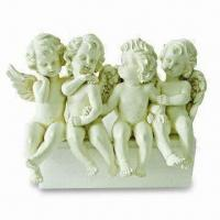 Guard Angel Christmas Ornaments, Made of Polyresin, Customized Designs, Sizes and Colors are Welcome Manufactures
