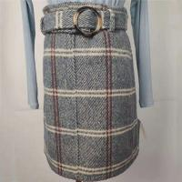 China Thickened Women's High Waisted Plaid Skirt Anti Static For Autumn / Winter on sale