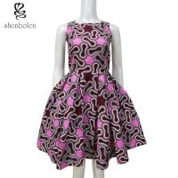 Sleeveless African Print Dresses After Back Bowknot Hollow Out For Women Manufactures